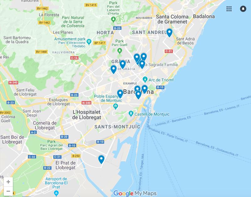 Mapa com mercados e lojas onde comprar produtos alimentícios brasileiros